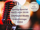 2 Tage Studioaufnahme – Spring Special 2020!